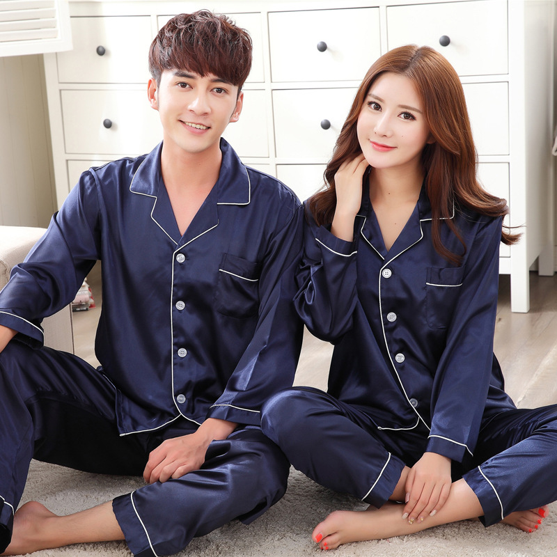 Family Matching Outfits Satin Pajamas For Couples