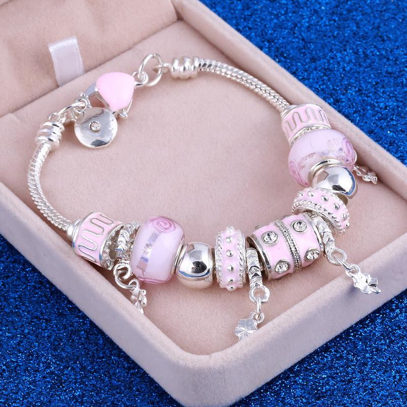 Cute Rhinestone Women's Charm Bracelet